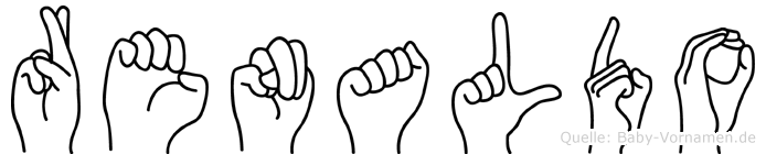 Renaldo im Fingeralphabet der Deutschen Gebärdensprache