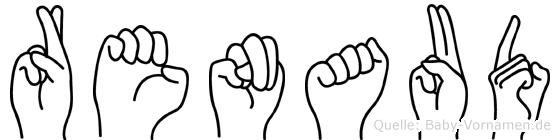 Renaud im Fingeralphabet der Deutschen Gebärdensprache