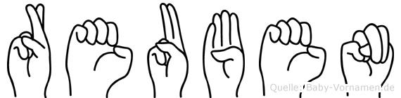 Reuben in Fingersprache für Gehörlose