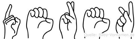 Derek in Fingersprache für Gehörlose