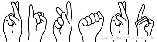 Rikard in Fingersprache für Gehörlose