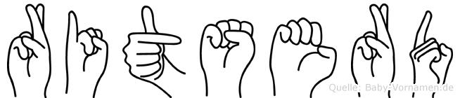 Ritserd in Fingersprache für Gehörlose
