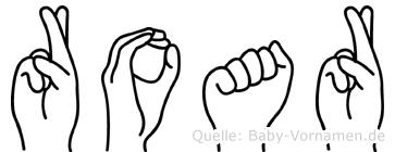 Roar im Fingeralphabet der Deutschen Gebärdensprache