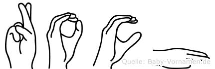 Roch in Fingersprache für Gehörlose