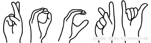 Rocky in Fingersprache für Gehörlose