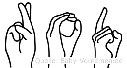 Rod im Fingeralphabet der Deutschen Gebärdensprache