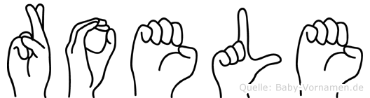 Roele im Fingeralphabet der Deutschen Gebärdensprache