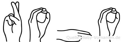 Roho in Fingersprache für Gehörlose