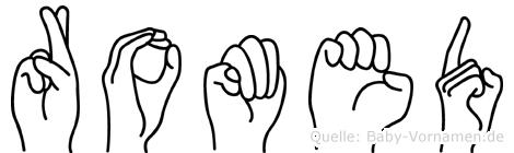 Romed im Fingeralphabet der Deutschen Gebärdensprache