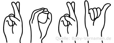 Rory in Fingersprache für Gehörlose