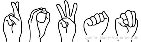 Rowan in Fingersprache für Gehörlose