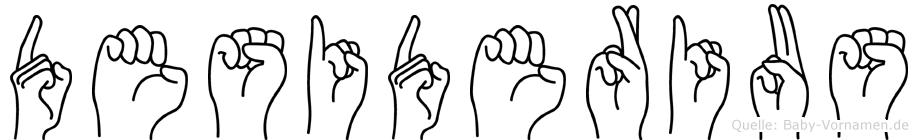 Desiderius in Fingersprache für Gehörlose