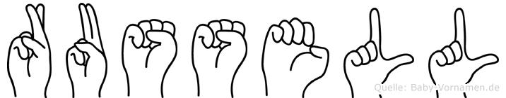 Russell in Fingersprache für Gehörlose