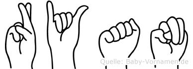 Ryan in Fingersprache für Gehörlose