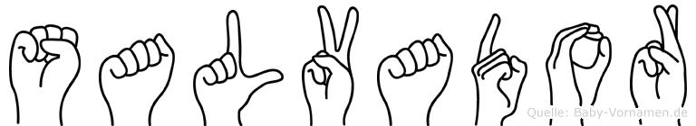Salvador in Fingersprache für Gehörlose