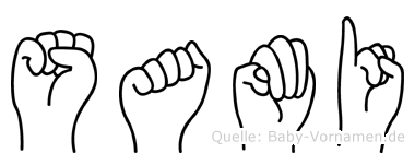 Sami im Fingeralphabet der Deutschen Gebärdensprache