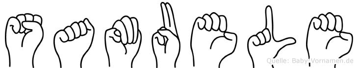 Samuele im Fingeralphabet der Deutschen Gebärdensprache