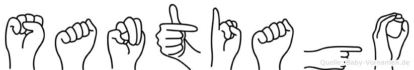 Santiago im Fingeralphabet der Deutschen Gebärdensprache