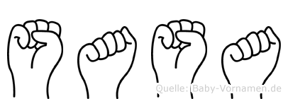 Sasa im Fingeralphabet der Deutschen Gebärdensprache