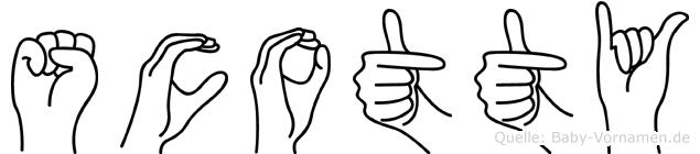 Scotty in Fingersprache für Gehörlose