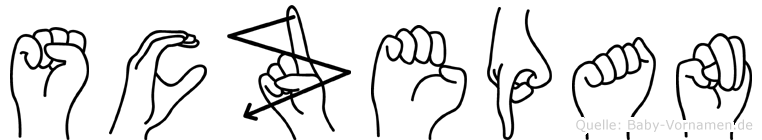 Sczepan in Fingersprache für Gehörlose