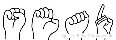 Sead im Fingeralphabet der Deutschen Gebärdensprache