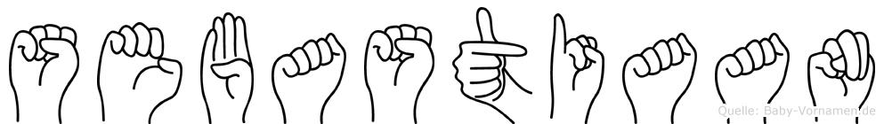 Sebastiaan im Fingeralphabet der Deutschen Gebärdensprache
