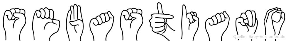 Sebastiano in Fingersprache für Gehörlose
