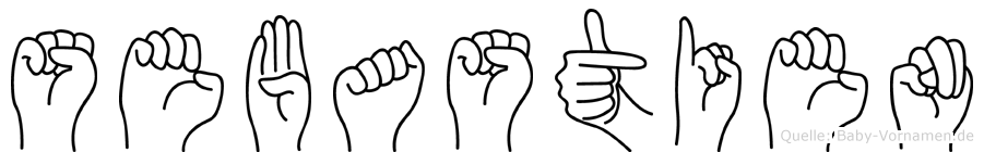 Sebastien im Fingeralphabet der Deutschen Gebärdensprache
