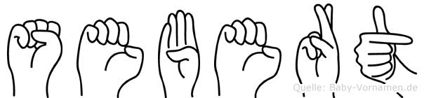 Sebert im Fingeralphabet der Deutschen Gebärdensprache