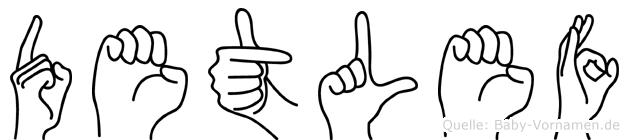 Detlef in Fingersprache für Gehörlose
