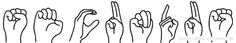Secundus in Fingersprache für Gehörlose