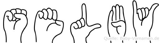 Selby in Fingersprache für Gehörlose