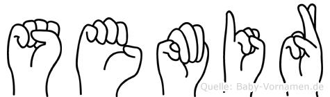 Semir in Fingersprache für Gehörlose