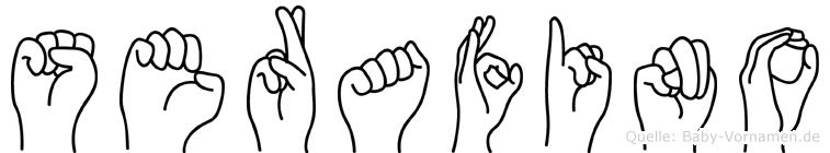 Serafino im Fingeralphabet der Deutschen Gebärdensprache