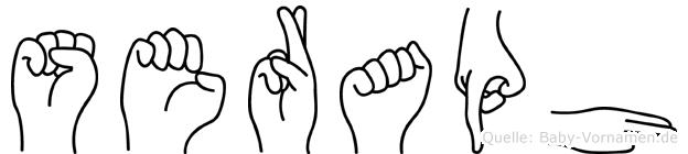 Seraph in Fingersprache für Gehörlose
