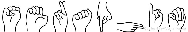 Seraphim im Fingeralphabet der Deutschen Gebärdensprache