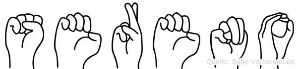 Sereno in Fingersprache für Gehörlose