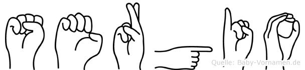 Sergio im Fingeralphabet der Deutschen Gebärdensprache
