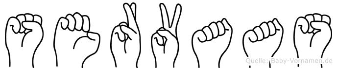 Servaas in Fingersprache für Gehörlose