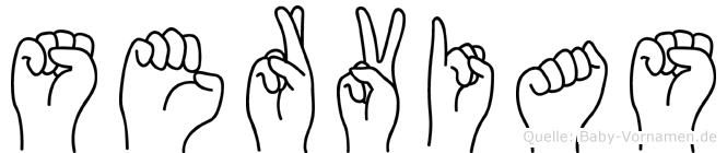Servias in Fingersprache für Gehörlose