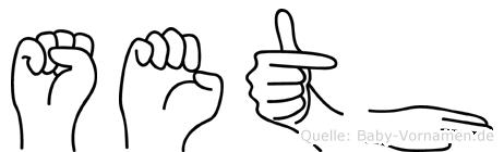 Seth in Fingersprache für Gehörlose