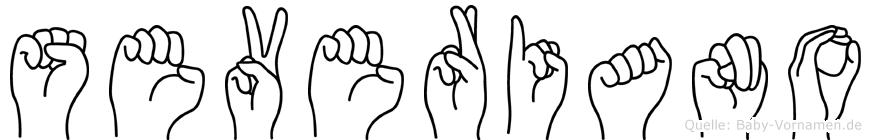 Severiano im Fingeralphabet der Deutschen Gebärdensprache