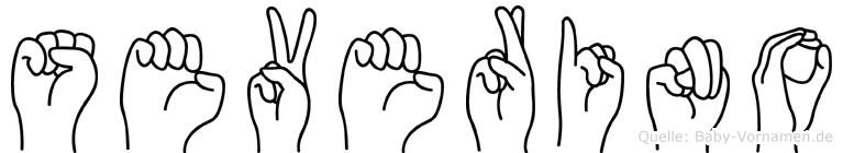 Severino im Fingeralphabet der Deutschen Gebärdensprache