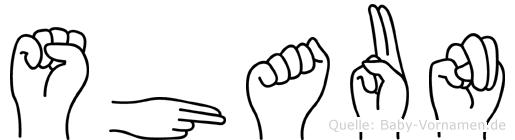 Shaun im Fingeralphabet der Deutschen Gebärdensprache