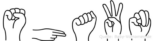 Shawn im Fingeralphabet der Deutschen Gebärdensprache