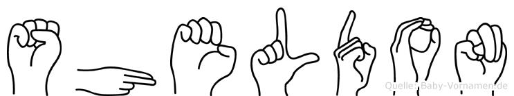 Sheldon im Fingeralphabet der Deutschen Gebärdensprache