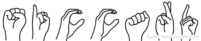 Siccard im Fingeralphabet der Deutschen Gebärdensprache