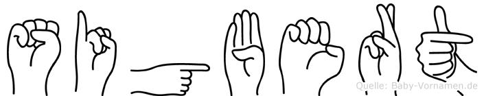 Sigbert im Fingeralphabet der Deutschen Gebärdensprache