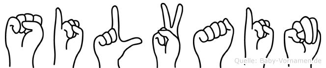 Silvain im Fingeralphabet der Deutschen Gebärdensprache